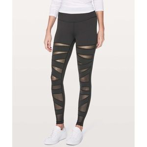 Lululemon Wunder Under Pant Tech Mesh in Black